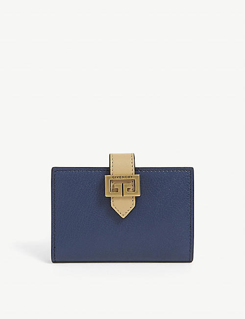 GIVENCHY: GV3 grained-leather card holder