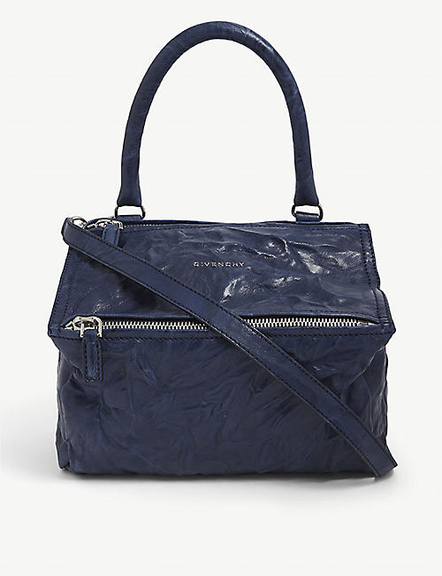 GIVENCHY: Pandora small aged-leather shoulder bag