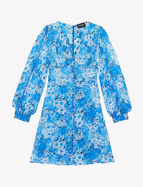 THE KOOPLES: Floral-print chiffon mini dress