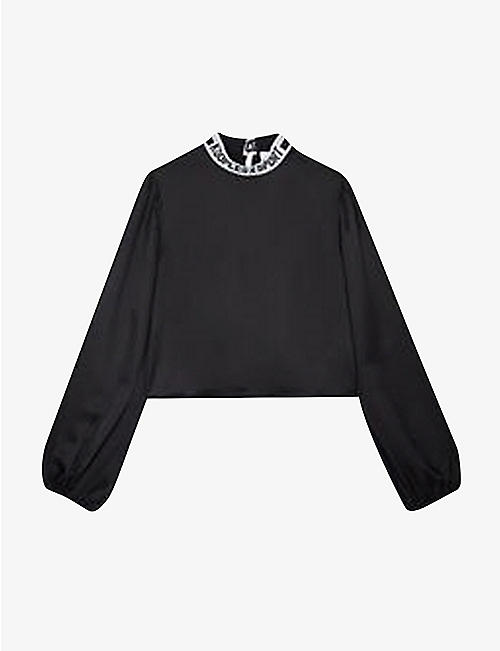 THE KOOPLES SPORT: Logo-band woven top