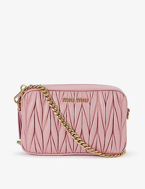 MIU MIU: Matelassé quilted leather cross-body bag