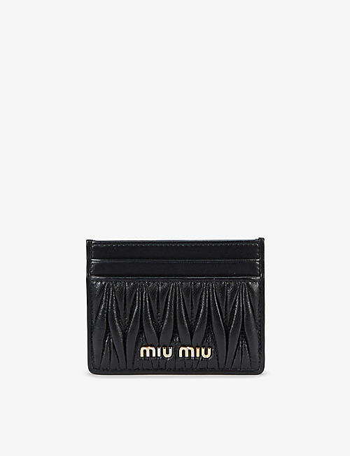 MIU MIU: Matelassé quilted leather card holder