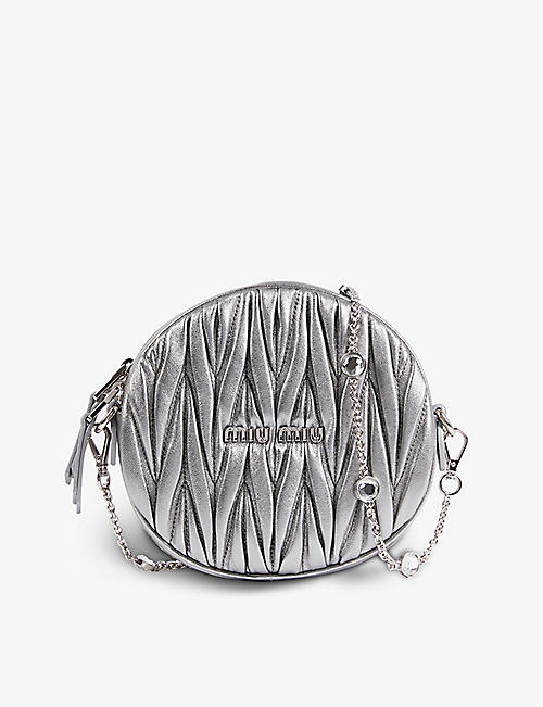 MIU MIU: Matelassé leather crossbody bag