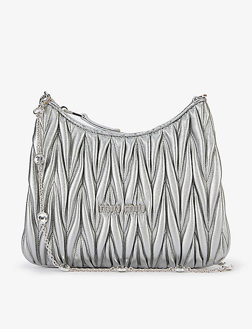 MIU MIU: Matelassé leather shoulder bag