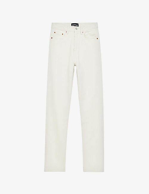 THE KOOPLES: Ripped straight relaxed-fit jeans