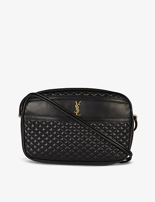 SAINT LAURENT: Victoire quilted leather cross-body bag