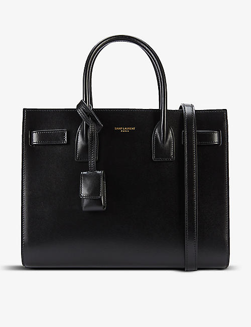 SAINT LAURENT: Sac de Jour Baby leather top-handle bag