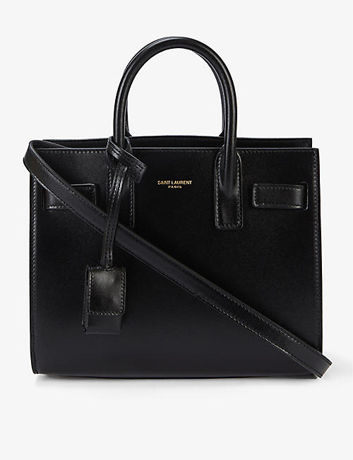 SAINT LAURENT: Nano Sac de Jour branded leather tote bag