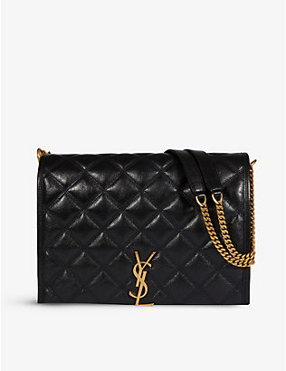 SAINT LAURENT: Becky small quilted-leather shoulder bag