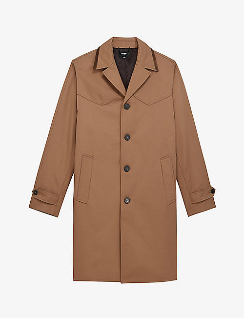 THE KOOPLES: Buttoned leather overcoat