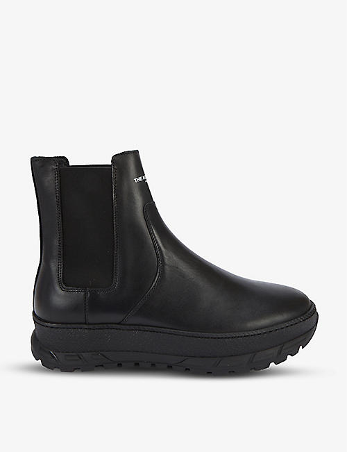 THE KOOPLES: Brand-print leather Chelsea boots