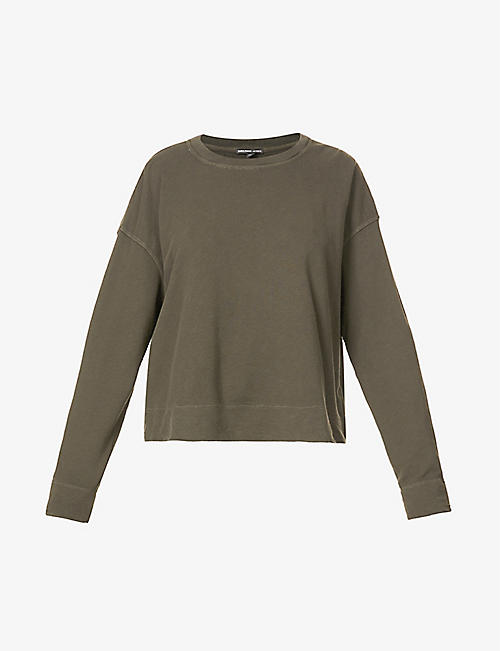 JAMES PERSE: Round-neck cotton-jersey sweatshirt