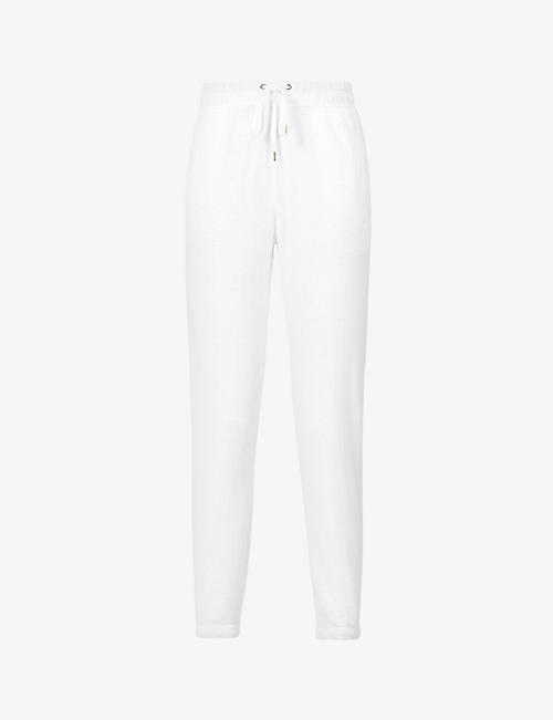 JAMES PERSE: Tapered high-rise cotton-jersey jogging bottoms
