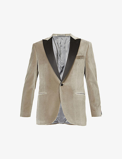 CORNELIANI: single breast velvet blazer