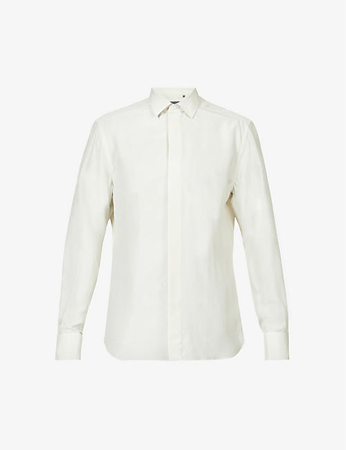 CORNELIANI: Relaxed-fit long-sleeved silk shirt