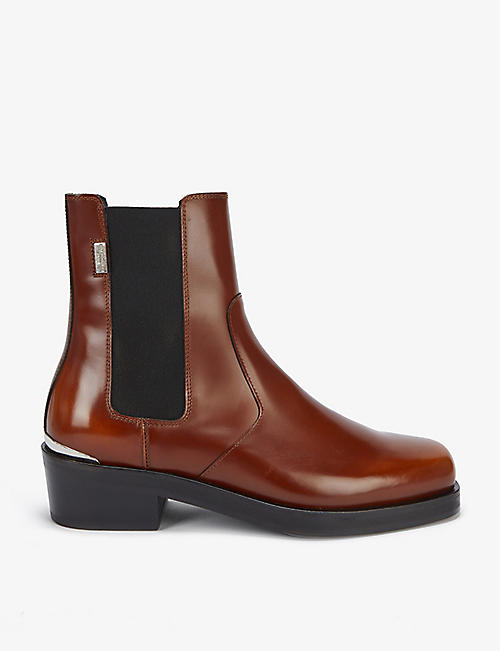 THE KOOPLES: Leather Chelsea boots