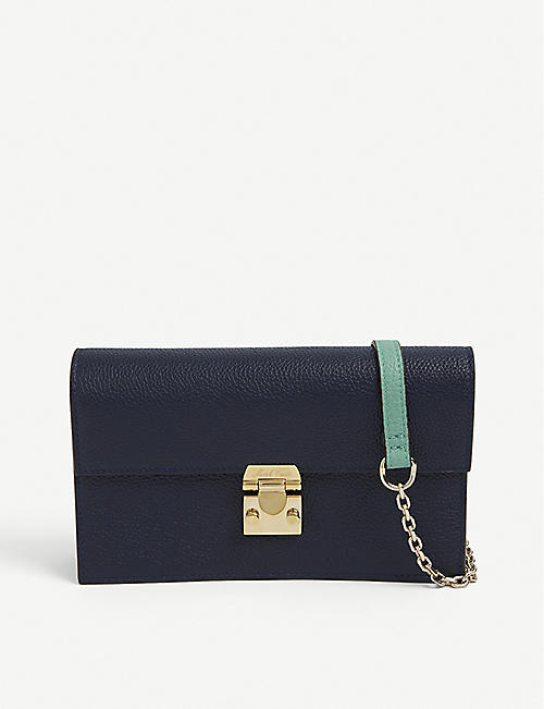 MARK CROSS: Carrie grained-leather cross-body bag