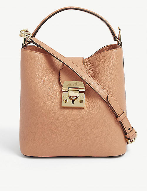 MARK CROSS: Murphy small grained-leather shoulder bag