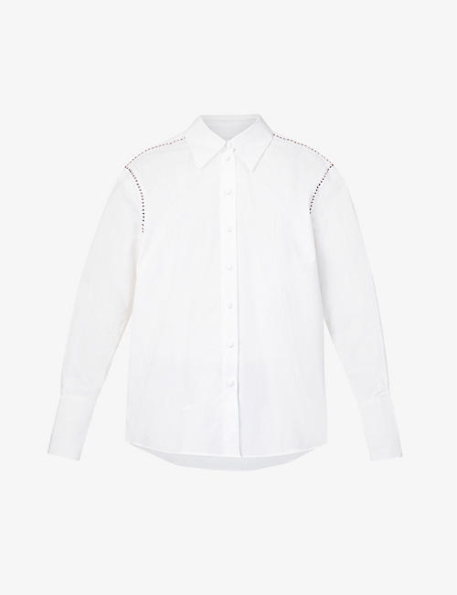 THE KOOPLES: Stud-embellished cotton-poplin shirt
