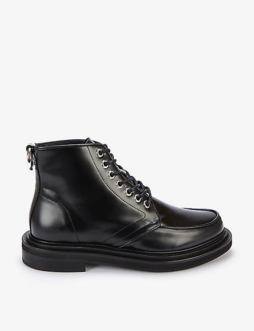 THE KOOPLES: Ring-loop leather boots