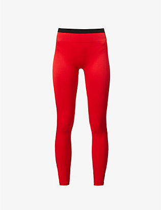 REEBOK X VICTORIA BECKHAM: Seamless mid-rise stretch-knit leggings