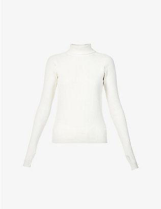 REEBOK X VICTORIA BECKHAM: Ribbed turtleneck stretch-knit jumper