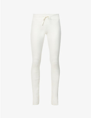 REEBOK X VICTORIA BECKHAM: Ribbed mid-rise stretch-knit leggings