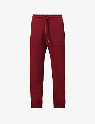REEBOK X VICTORIA BECKHAM: Logo-embroidered cotton jogging bottoms