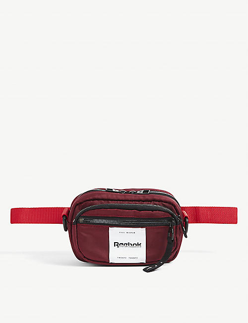REEBOK X VICTORIA BECKHAM: Logo-embroidered woven belt bag