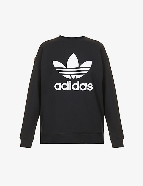 ADIDAS ORIGINALS: Logo-embroidered cotton-jersey sweatshirt