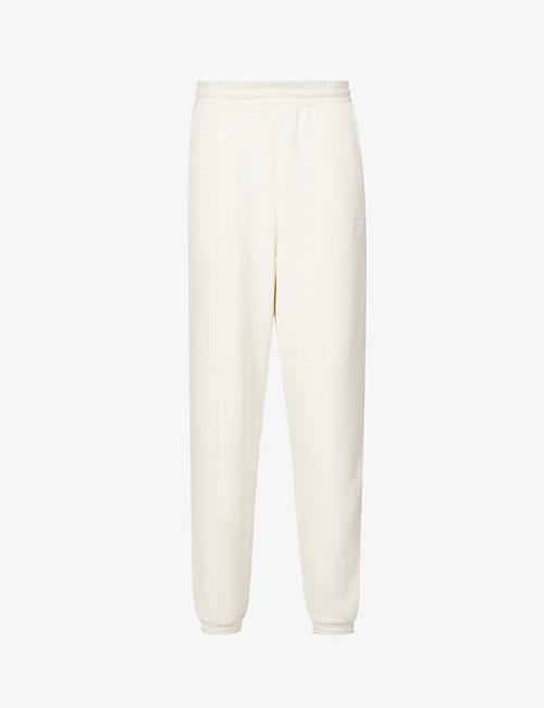 ADIDAS ORIGINALS: Logo-embroidered cotton-jersey jogging bottoms