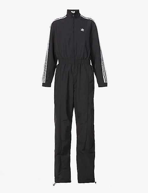 ADIDAS ORIGINALS: Logo-embroidered recycled-polyamide jumpsuit