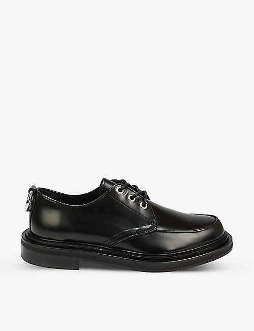 THE KOOPLES: Lace-up thick-sole leather Derby shoes