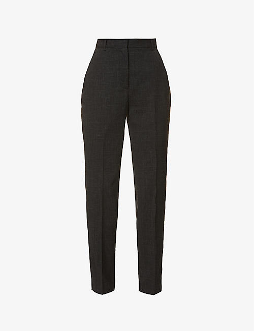 THE KOOPLES: Tapered mid-rise wool and linen-blend suit trousers