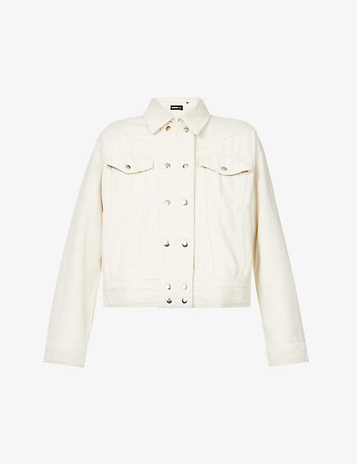 THE KOOPLES: Logo-patch cotton-twill jacket