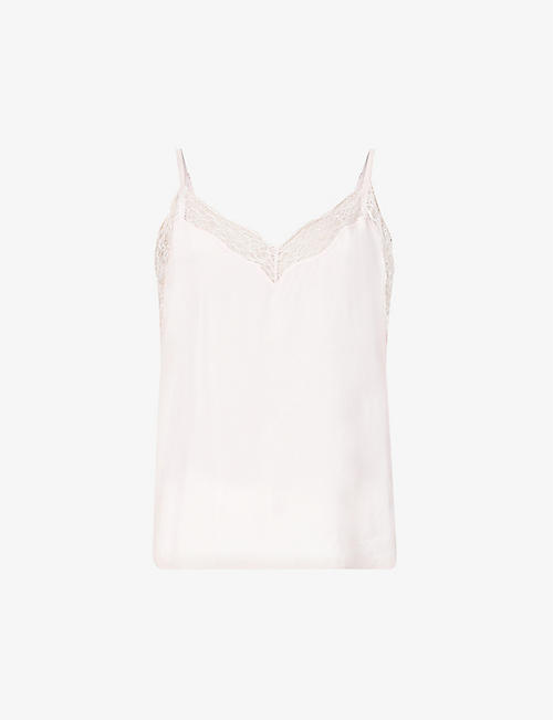 THE KOOPLES: Lace-trimmed woven camisole