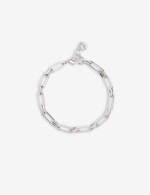 THE WHITE COMPANY: Chain silver-plated bracelet
