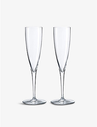 BACCARAT: Dom Perignon crystal flutes set of two