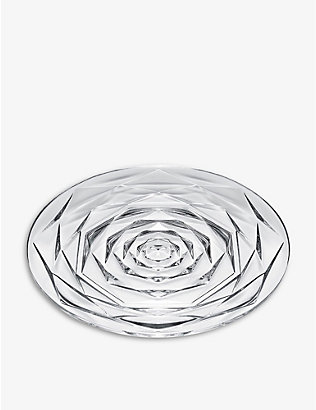 BACCARAT: Swing crystal plate 19cm