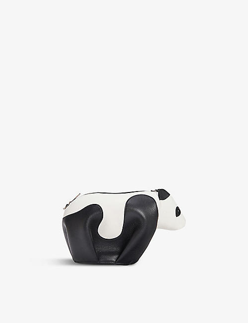 LOEWE: Panda mini leather cross-body bag