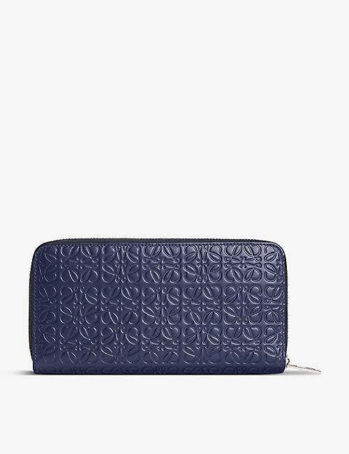 LOEWE: Anagram-embossed zip-around leather wallet