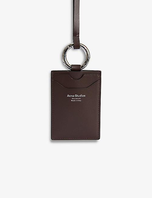 ACNE STUDIOS: Aelin logo-print leather lanyard