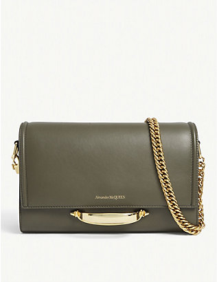 ALEXANDER MCQUEEN: Story leather shoulder bag