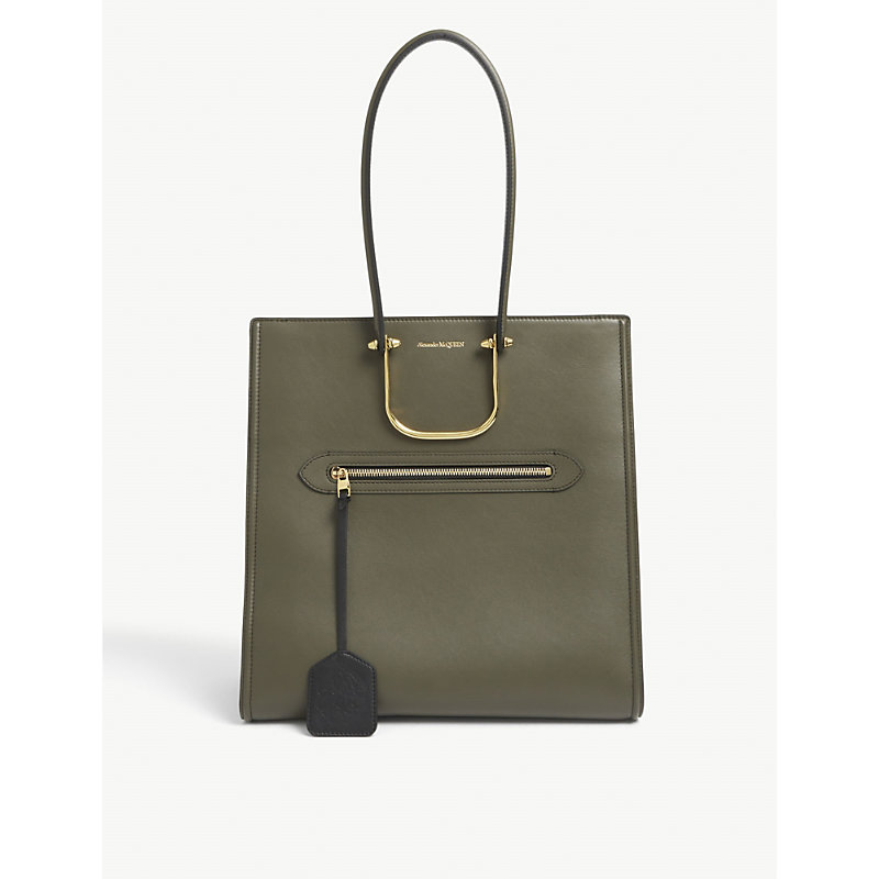 Alexander Mcqueen Leathers TALL STORY LEATHER TOTE BAG