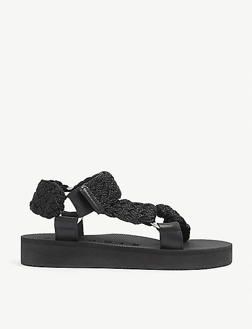 CLAUDIE PIERLOT: Akram strap-detail woven sandals