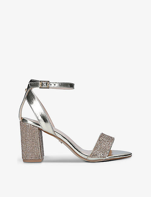 CARVELA: Kianni embellished faux-leather heeled sandals