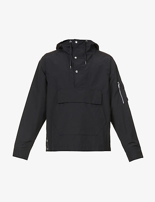 THE KOOPLES: Logo-print relaxed-fit cotton-blend jacket