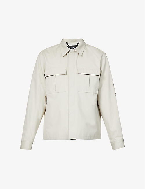 THE KOOPLES: Logo-engraved regular-fit cotton jacket