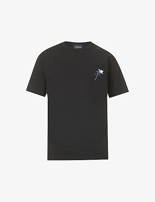 THE KOOPLES: Embossed organic cotton-jersey T-shirt