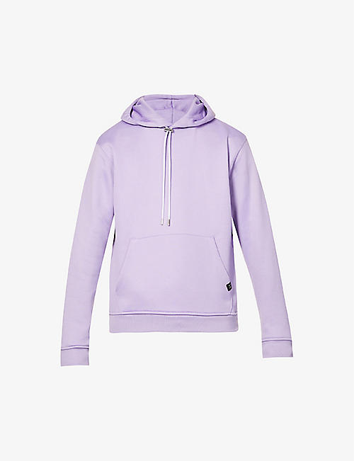 THE KOOPLES SPORT: Logo-print organic cotton-blend hoody